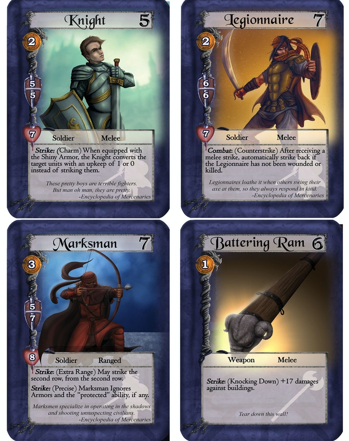 Sample cards from the expansion