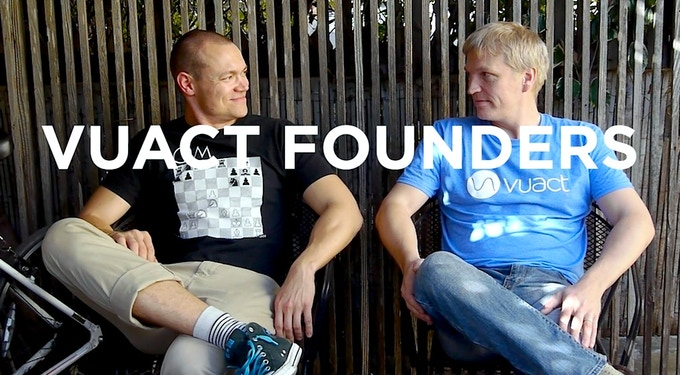 Vuact Founders, Mikko (the product guy) and Kalle (the tech guy).