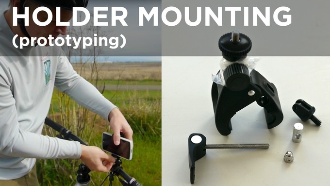 Bar and Go Pro compatible mounts. No, yours will not have the amazing strength-increasing plastic wrap, we're solving that a bit better... The mounting parts are directly selected from 3rd party manufacturers to support our use case and our phone holder.