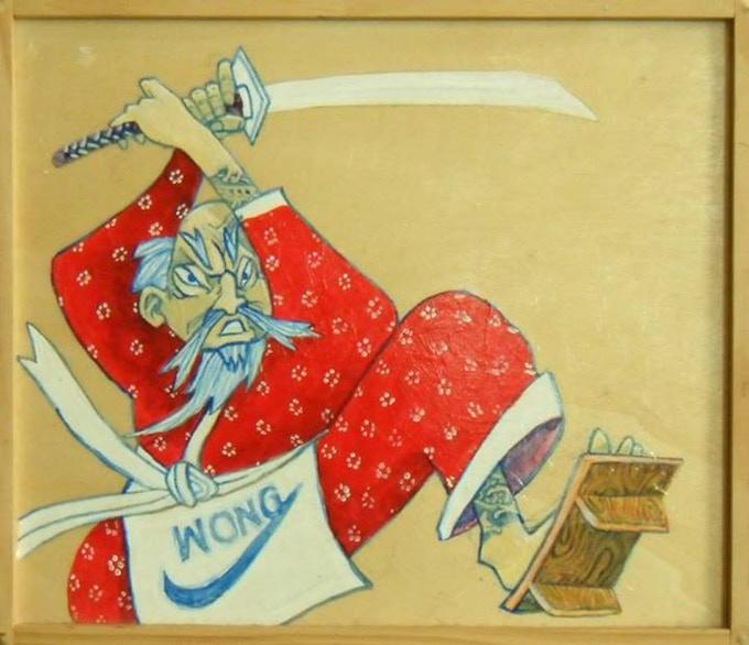 """Wong Quixote"" by Sonny Wong Acrylic on Wood."