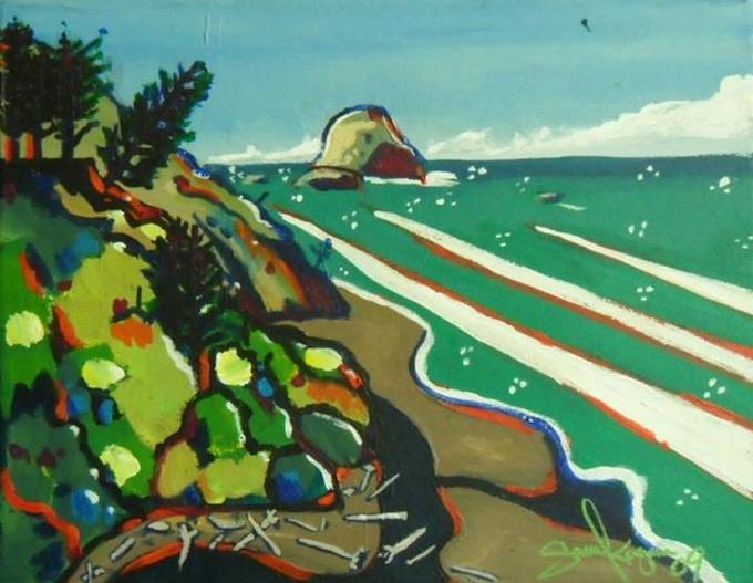 """Fleener Creek"" by Sheik Acrylic on canvas."