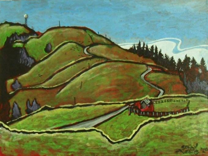 """Bear River Ridge"" by Sonny Wong Acrylic on canvas"