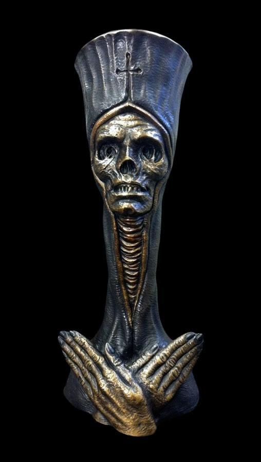 """""""Dead Pope"""" Bronze Sculpture (approx. 16"""" tall)"""