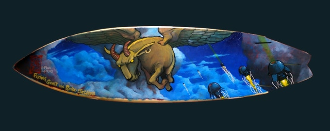 """Flying Goat Board"" by Shawn Griggs"