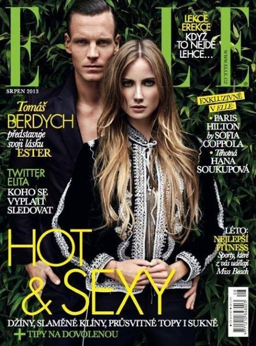 Elle Czech Republic cover. Make up by Michelle Webb.