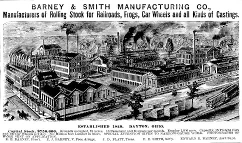 Early Ad Depicting the Barney & Smith Manufacturing Co. in Dayton, Ohio