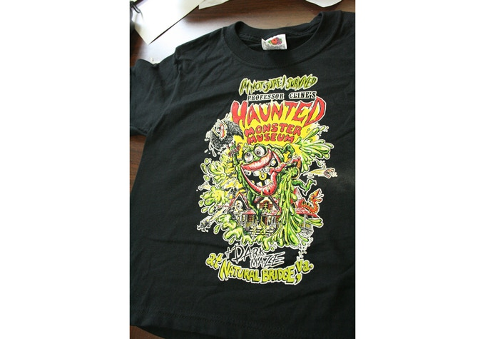 Monster Museum t-shirt (comes in various sizes - please make sure you select the correct size when choosing your reward)