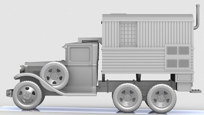 GAZ AAA RSB-F Radio truck 3D render