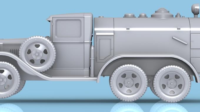 1940 varient of the GAZ AAA Refueling Truck 3D render