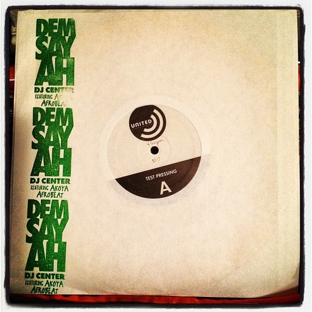 "1 of only 5 limited test pressings of the ""Dem Say Ah"" EP"