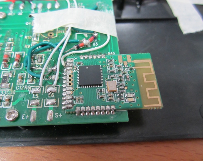 Hacked together early PCB