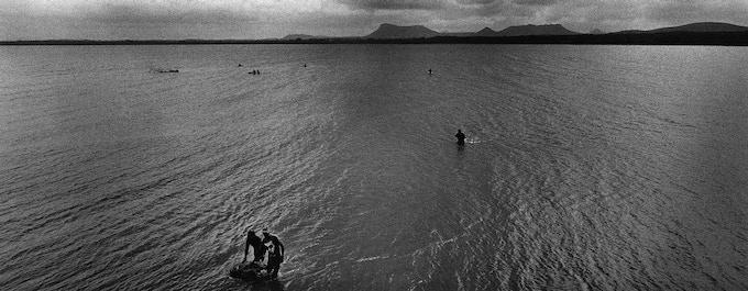2 - Men at sea, Gibara, Cuba, 2003