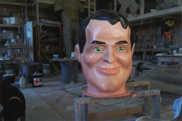 The Muffler Man head