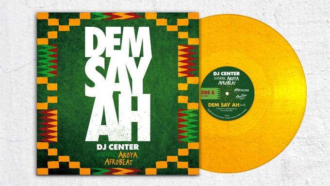 "1 copy of the ""Dem Say Ah"" Deluxe, gold-colored 10-inch vinyl EP, personally signed by DJ Center"