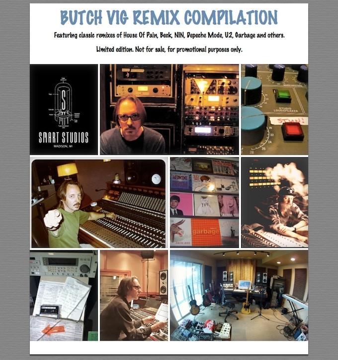 Butch Vig home made artwork for CD compilation - see rewards