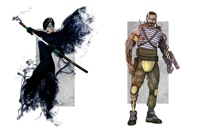 Example Extreme Earth Character Illustrations
