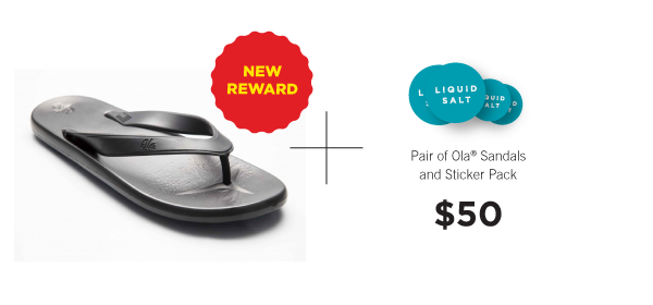 Ola® Sandals, designed and made in California.