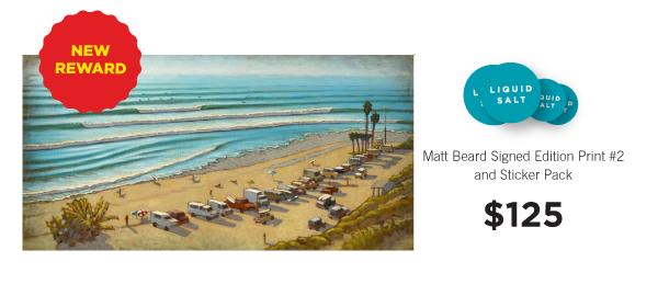 "Matt Beard signed edition print ""Lined Up."""
