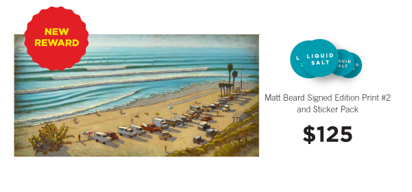 "Matt Beard signed edition print ""Lined Up."""