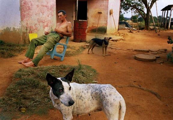 Fidel Smoking Cigarette, Bautista, Cuba, 2004
