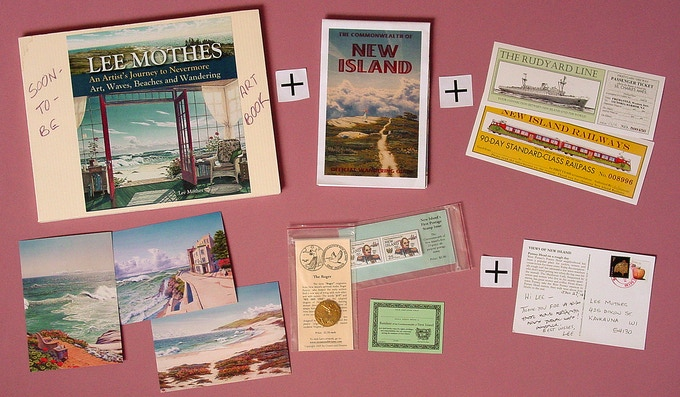 The art book, Traveler Package and the post card.