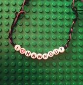 Sample friendship bracelet