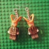 Sample minifig earrings (Loki pictured here)