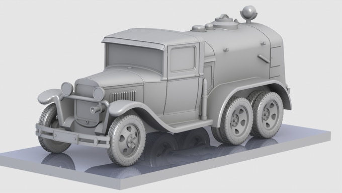 GAZ AAA BZ38 Refueling Truck 3D render