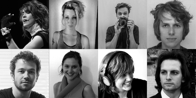 Top left to bottom right: Imogen Heap, Rachel Freire, Adrian Lausch, Seb Madgwick, Thomas Mitchell, Hannah Perner-Wilson, Kelly Snook & Adam Stark