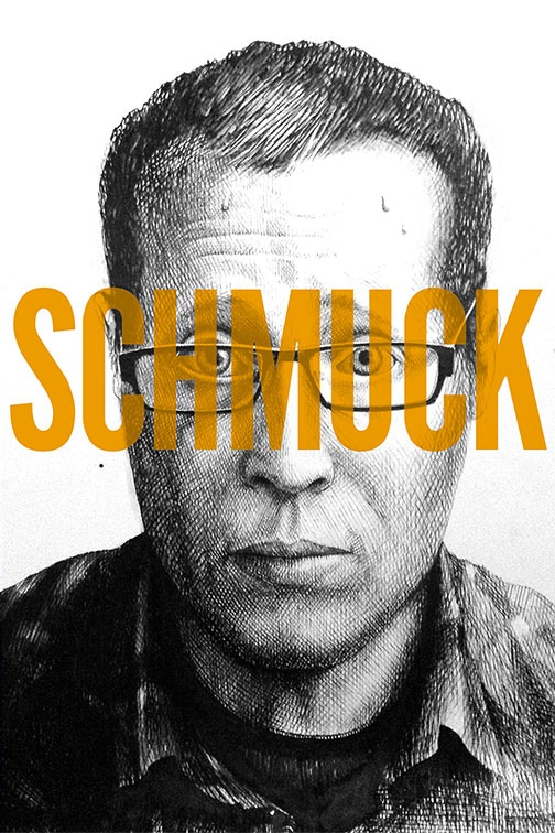 The cover for the general release trade paperback version of SCHMUCK, illustrated by JOSEPH REMNANT and designed by ERIC SKILLMAN