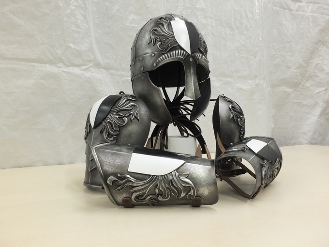 The FULL SET of Fortunes Keep Armour made exclusively for us by www.wyrmwickcreations.com available as pledges and add ons
