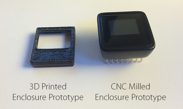 The huge difference between our 3D Printed and CNC Milled Prototypes.