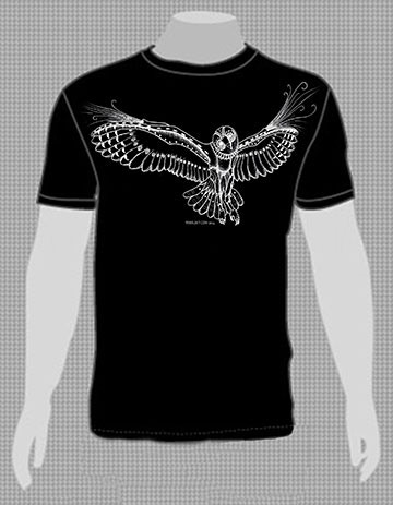 Steam Owl Shirt Mock Up!  Comes in Bellas for ladies, too!