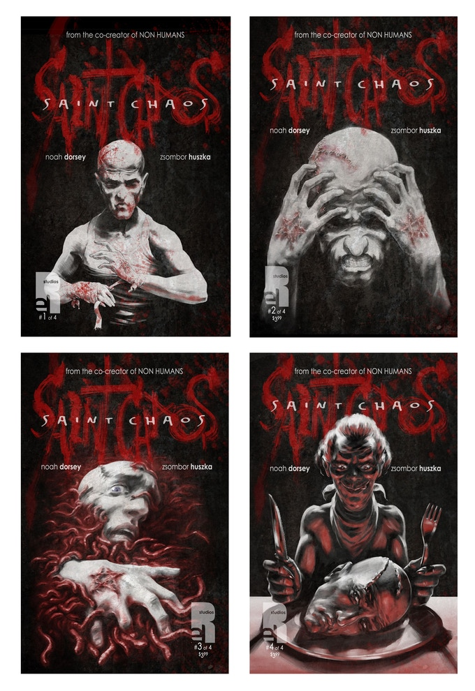 Covers for issues #1, #2, #3, #4