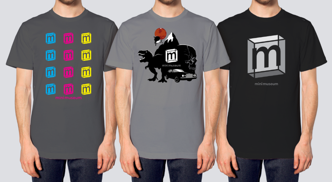 T-Shirt designs, the center design is a limited edition only available to backers of this project