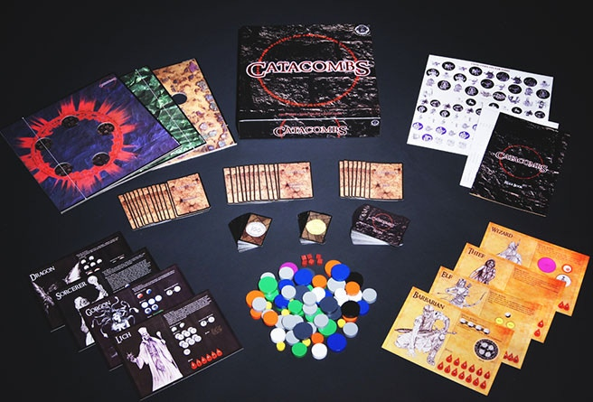 Catacombs 1st Edition components