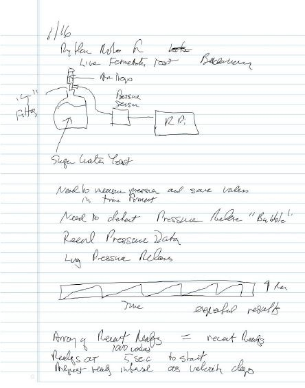 Notebook entry for modified air trap idea