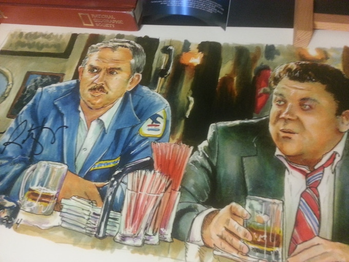 "Some Times You Want to Go Reward - 12""x24"" Print Signed by John Ratzenberger"