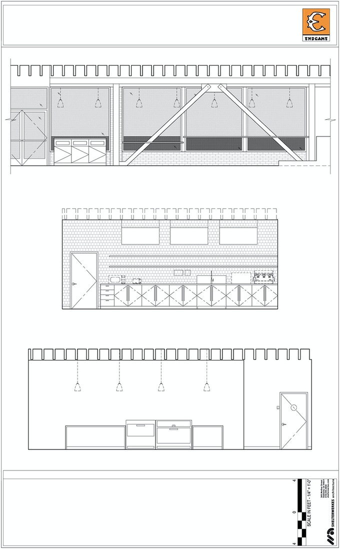 Elevation Plans for the New Café