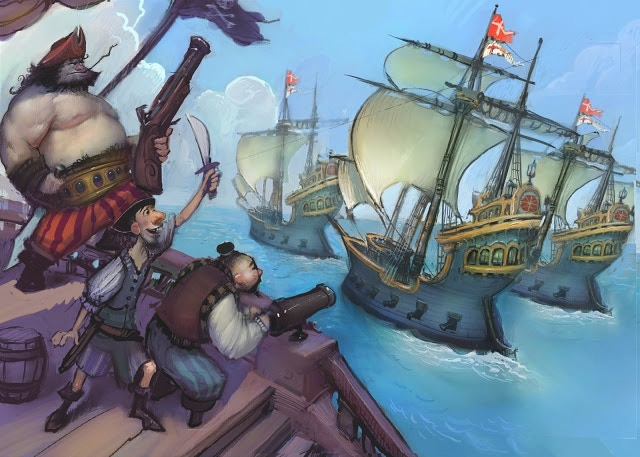 Attack merchant ships and take more than just their rum!