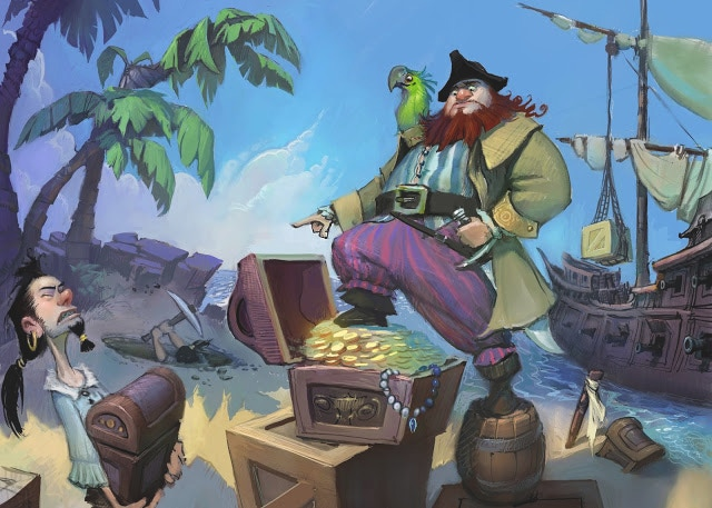 Bury your treasure before your friends find your loot!
