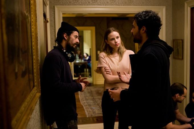 Director Josh Mond with Christoper Abbot (James) and Mackenzie Leigh (Jayne)