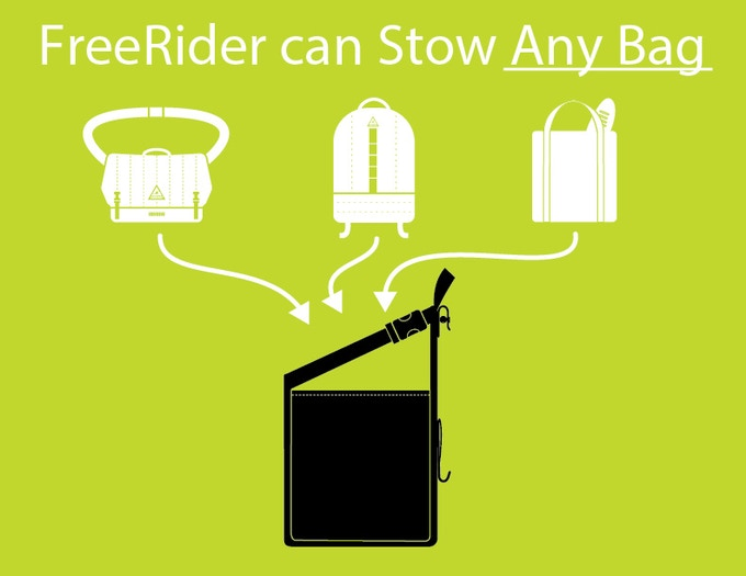 FreeRider can fit your bag.