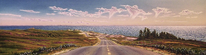 """The Lonely Road"", a watercolor from ""The Dream Coast"" chapter."
