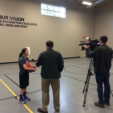 My daughter Andrea Griffee being interviewed. 3/21/2014
