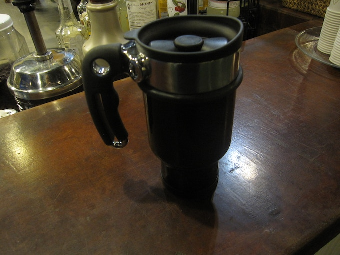 Travel mug & French Press... all in one!