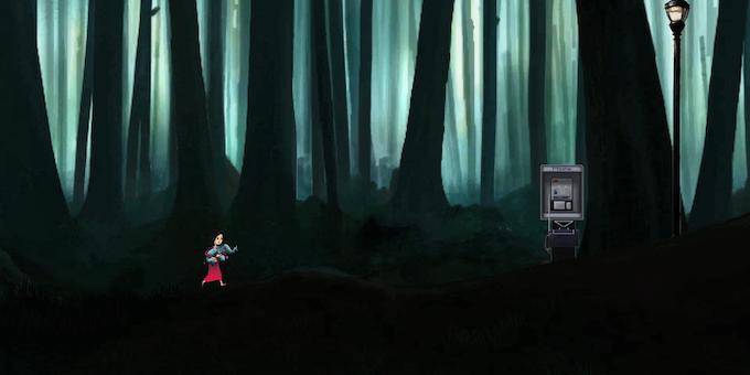 A strange encounter in the dark forest