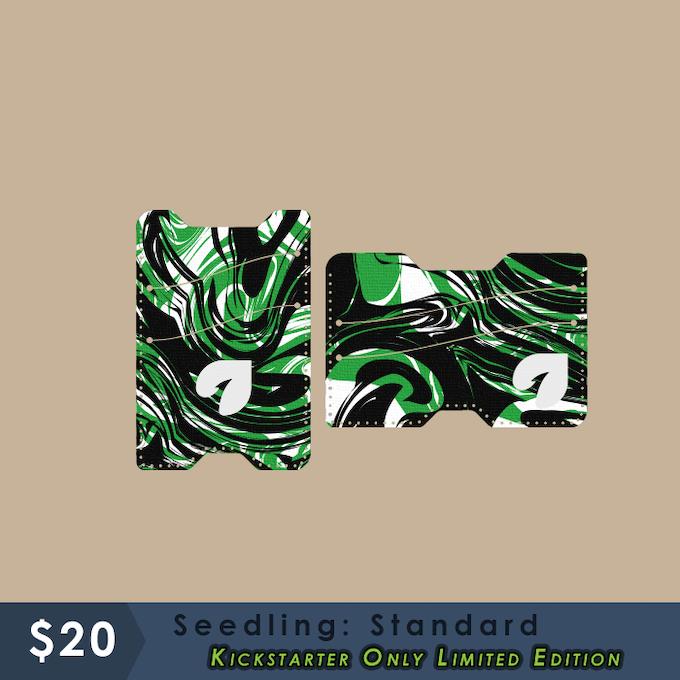 Kickstarter Limited Edition - Seeding: Standard - Black and green ink swirl!!  Tall or Wide - Black and green hemp cord.  Swirl pattern will be random.