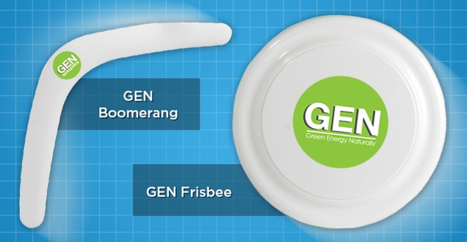Boomerang & Frisbee Made From Recycled Materials