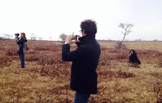 Our Behind-the-Scenes crew out on the Nantucket Moors